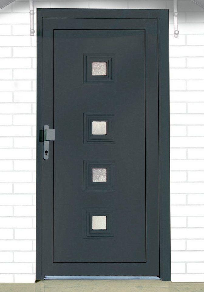 Kunststoff-Haustür »Spanien« BxH: 110 x 210 cm, anthrazit in anthrazit