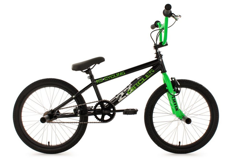 bmx freestyle 20 zoll gr n circles ks cycling online. Black Bedroom Furniture Sets. Home Design Ideas