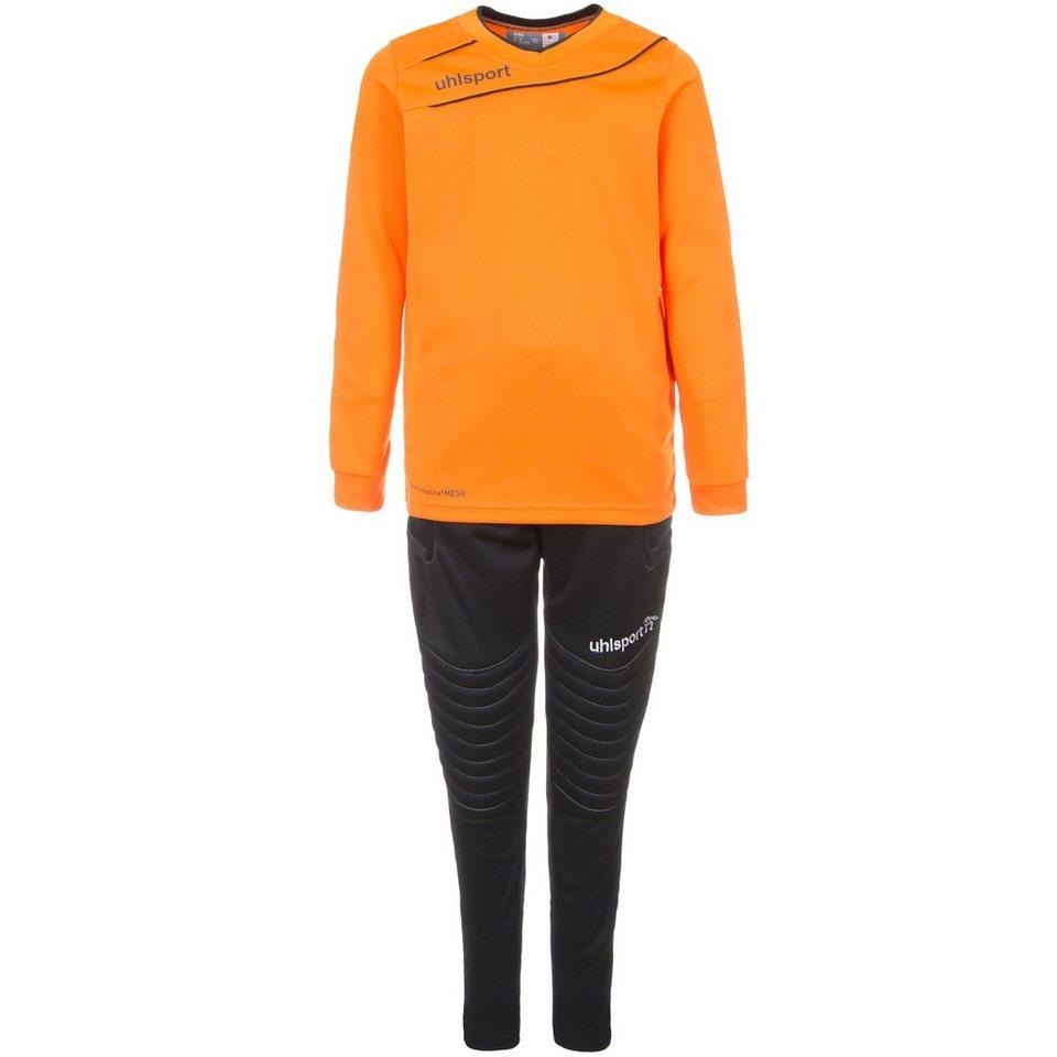 UHLSPORT Stream 3.0 Torwart Set Kinder in orange/schwarz