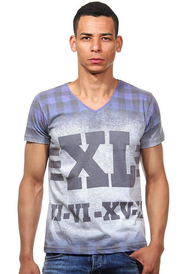 R-NEAL T-Shirt V-Ausschnitt slim fit in royalblau