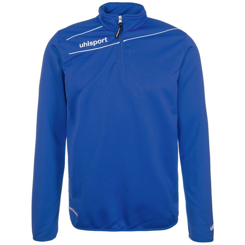 UHLSPORT Stream 3.0 1/4 Zip Top Kinder in azurblau/weiß