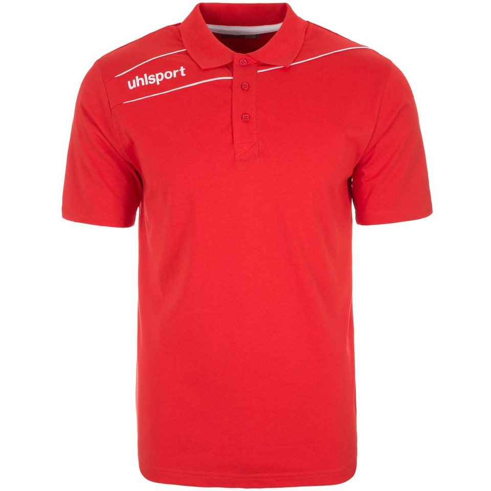 UHLSPORT Stream 3.0 Polo Shirt Herren in rot/weiß