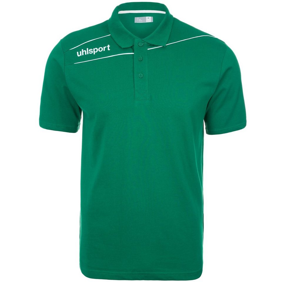 UHLSPORT Stream 3.0 Polo Shirt Kinder in lagune/weiß