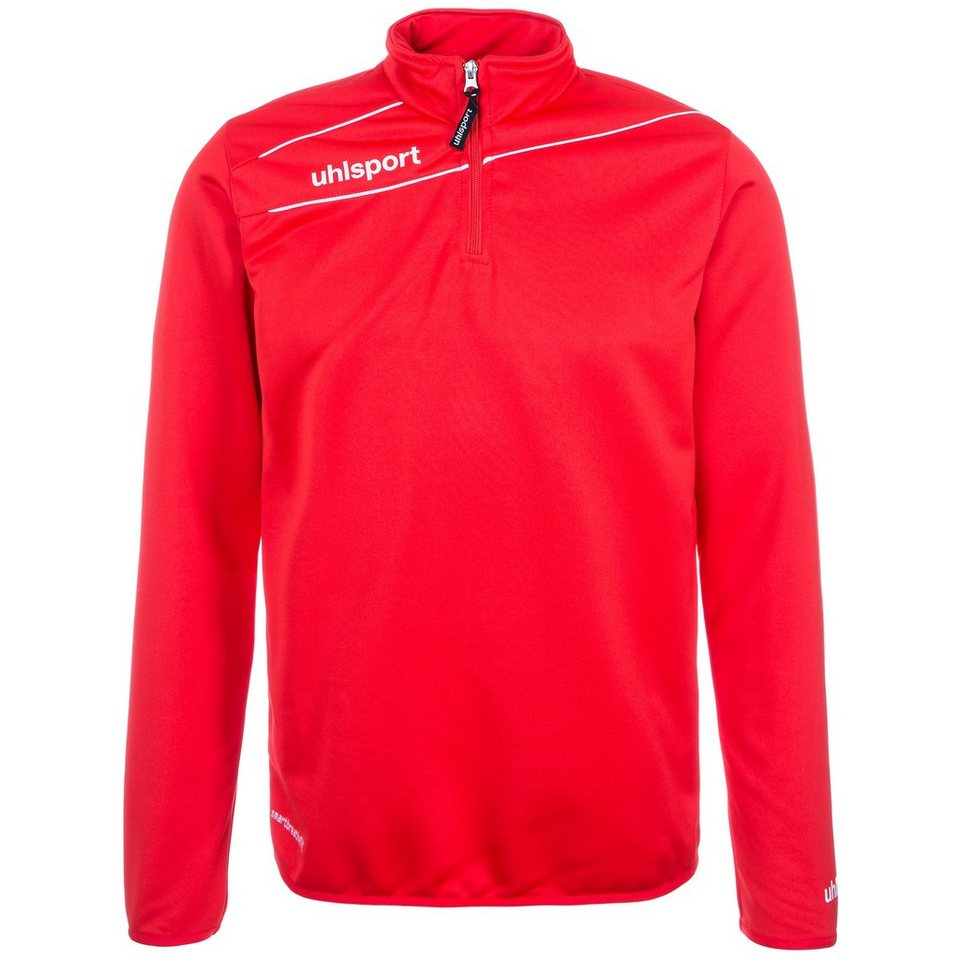 UHLSPORT Stream 3.0 1/4 Zip Top Herren in rot/weiß