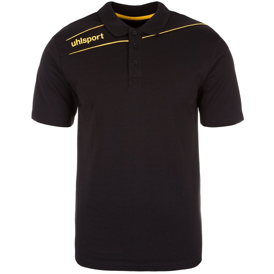 UHLSPORT Stream 3.0 Polo Shirt Herren in schwarz/maisgelb
