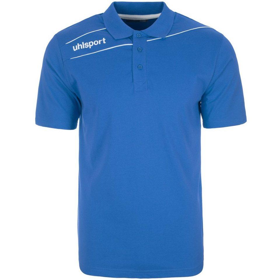 UHLSPORT Stream 3.0 Polo Shirt Herren in azurblau/weiß