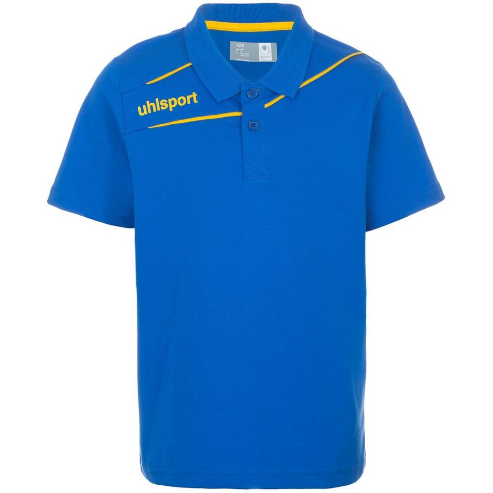 UHLSPORT Stream 3.0 Polo Shirt Herren in azurblau/maisgelb