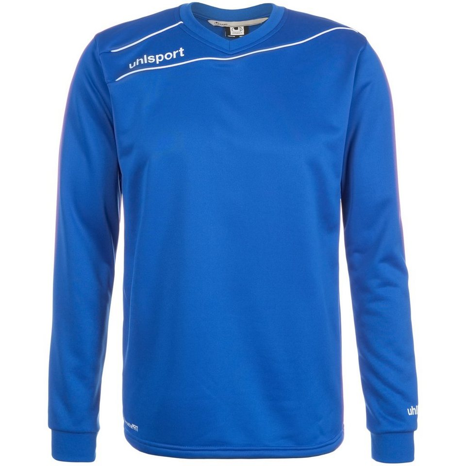 UHLSPORT Stream 3.0 Training Top Kinder in azurblau/weiß