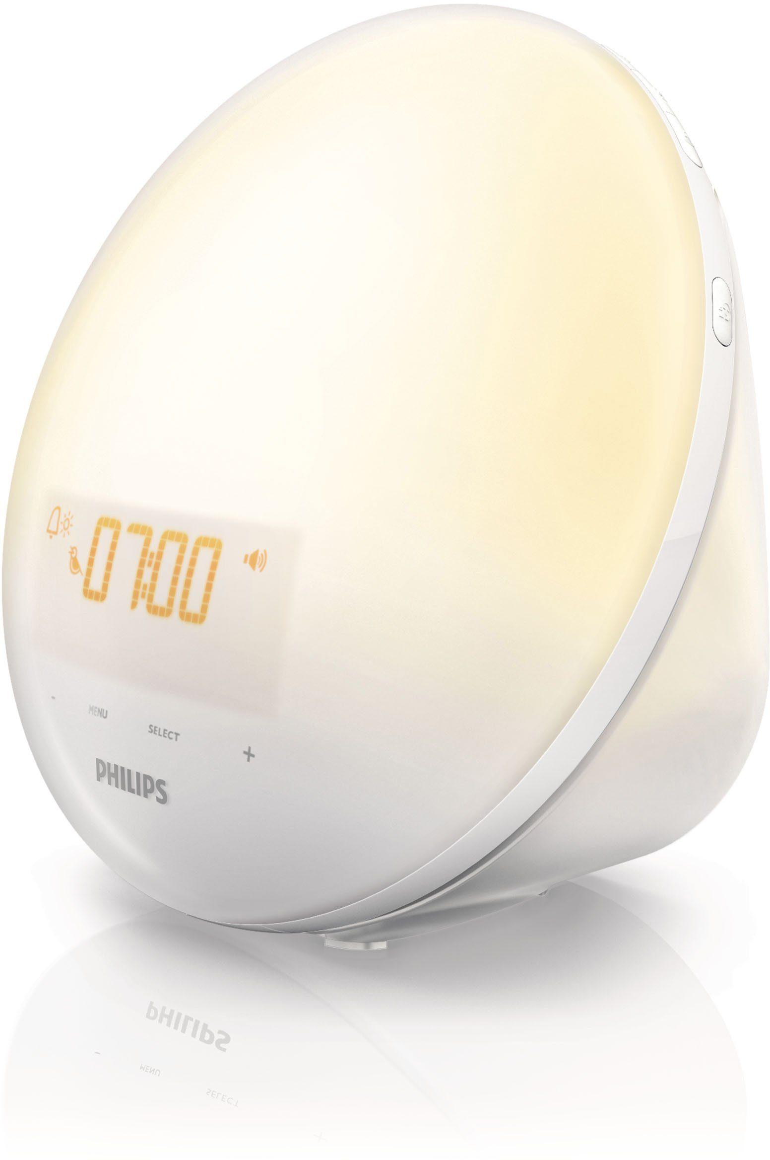 Philips Wake Up Light HF3510/01, mit natürlicherer Aufwachlichtkurve, FM Radio