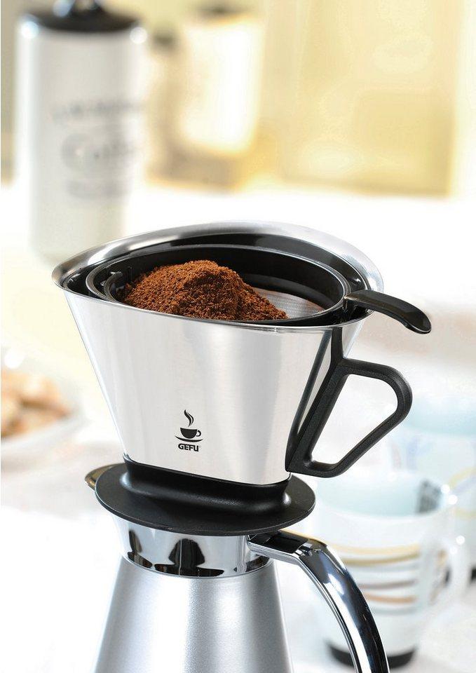 GEFU Kaffee-Filter, »ANGELO« in silberfarben/schwarz