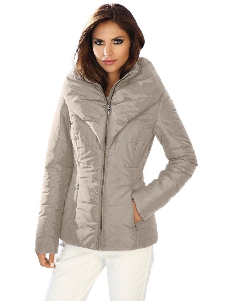 Steppjacke in taupe