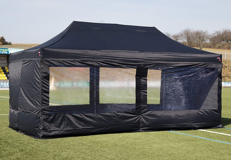 ExpressZelte Zelt, 4 x 6 Meter, schwarz