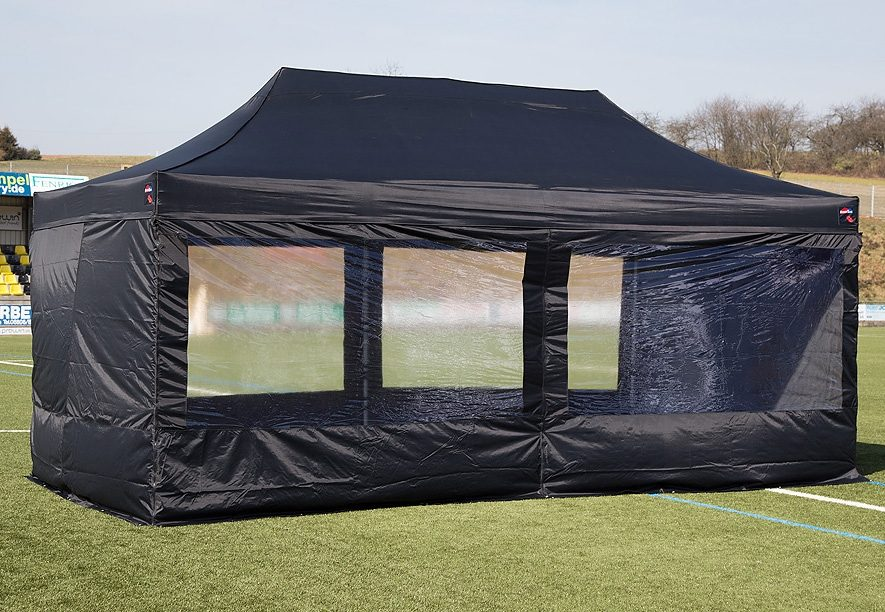 ExpressZelte Zelt, 3 x 6 Meter, schwarz