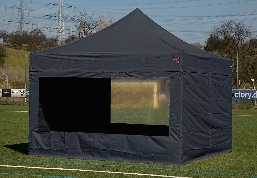 ExpressZelte Zelt, 3 x 4,5 Meter, schwarz