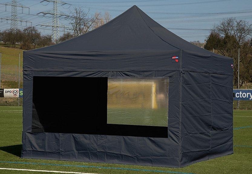 ExpressZelte Zelt, 4 x 4 Meter, schwarz in schwarz