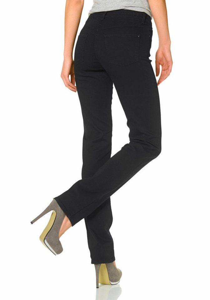 MAC 5-Pocket-Jeans »Dream« in schwarz