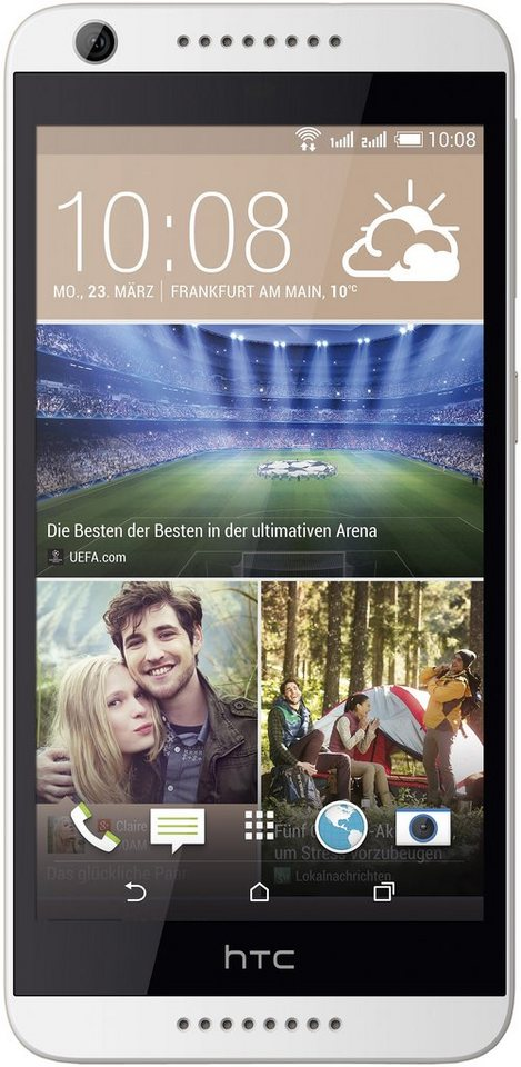 HTC Desire 626G Dual Smartphone, 12,7 cm (5 Zoll) Display, Android 4.4, 13,0 Megapixel in weiß