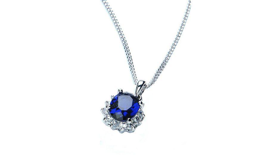Buckley London Halskette mit Kettenanhänger, »Royal Blue Collection«