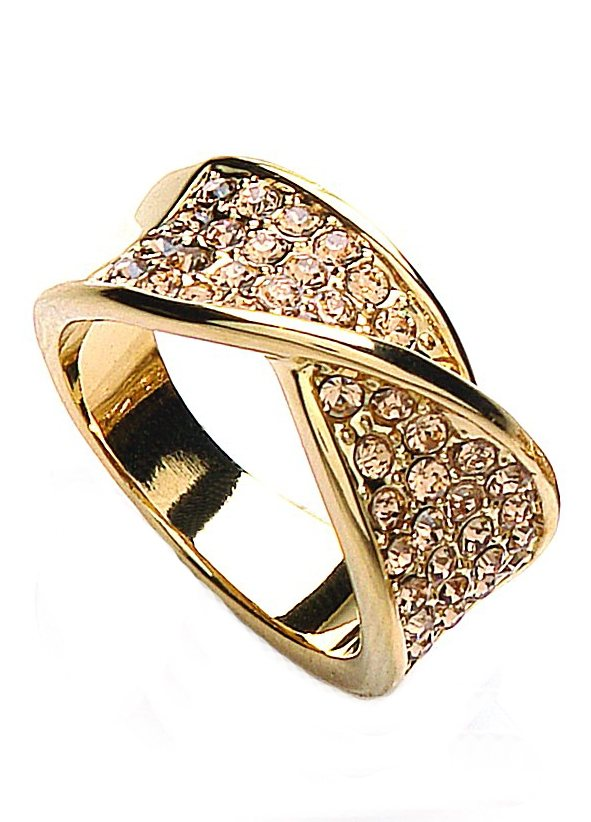 Buckley London Ring, »Glitter & Gold Collection« in goldfarben