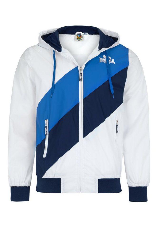 Lonsdale Sweatjacke in White/Blue/Navy