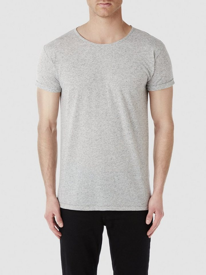 Selected Rundausschnitt - T-Shirt in Flint Gray