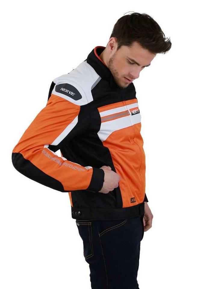 Motorradjacke »X 66 Unisex« in orange/weiß