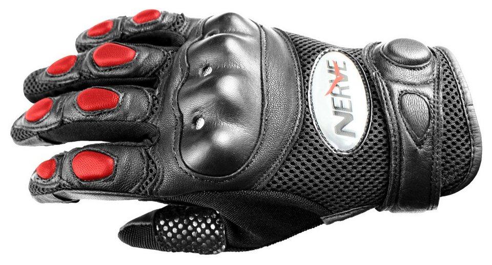 Motorradhandschuhe »KQ07« in rot/schwarz