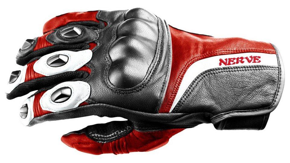 Nerve Motorradhandschuhe »KQ11« in rot/schwarz
