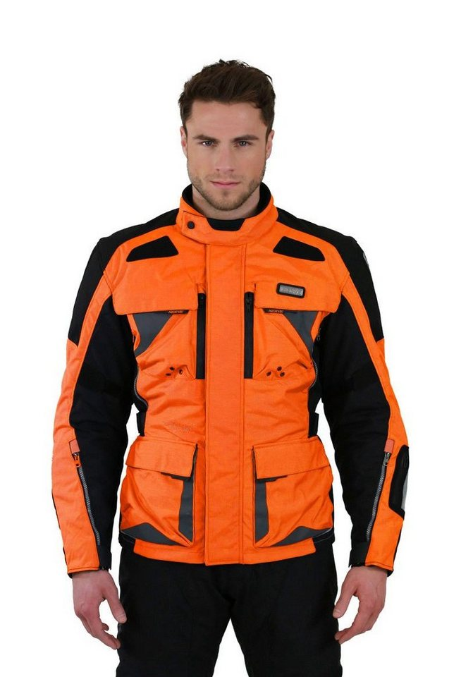 Herrenmotorradjacke »Tengri« in orange