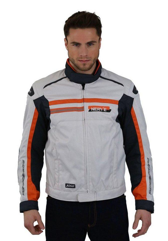 Nerve Herrenmotorradjacke »X 66« in orange/weiß