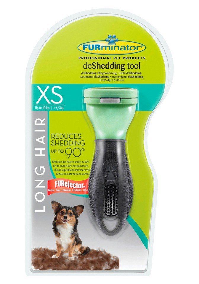 Hundepflegebürste »FURminator deShedding Langhaar XS« in grün