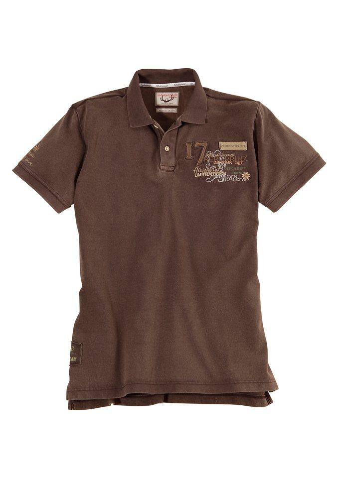 Herren Trachtenshirt in Used Look Optik, Stockerpoint in braun