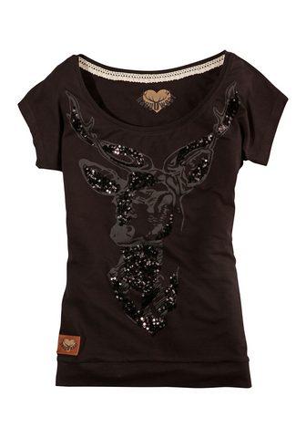 HANGOWEAR Marškinėliai su Hirsch-Aufdruck
