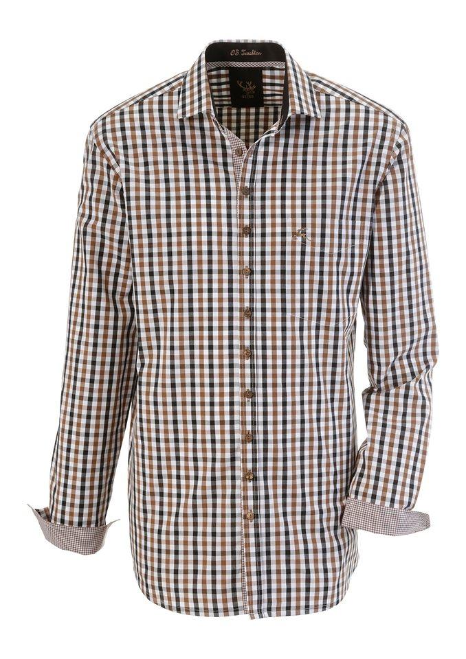 Trachtenhemd im Karodesign, OS-Trachten in braun