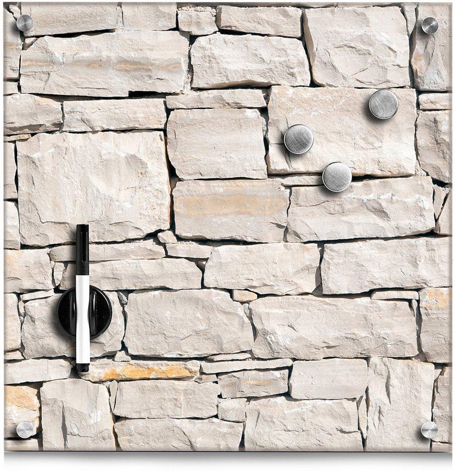 Magnettafel, Home affaire, »Stone« in braun
