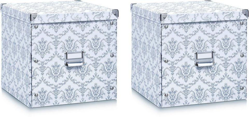 aufbewahrungsbox home affaire 2er set kaufen otto. Black Bedroom Furniture Sets. Home Design Ideas