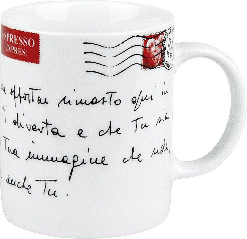 Könitz Becher »Amore Mio - cartolina« in Weiß
