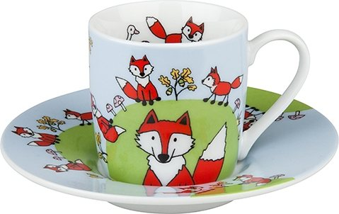 Könitz Espressotasse »Globetrotter Fuchs« in Bunt