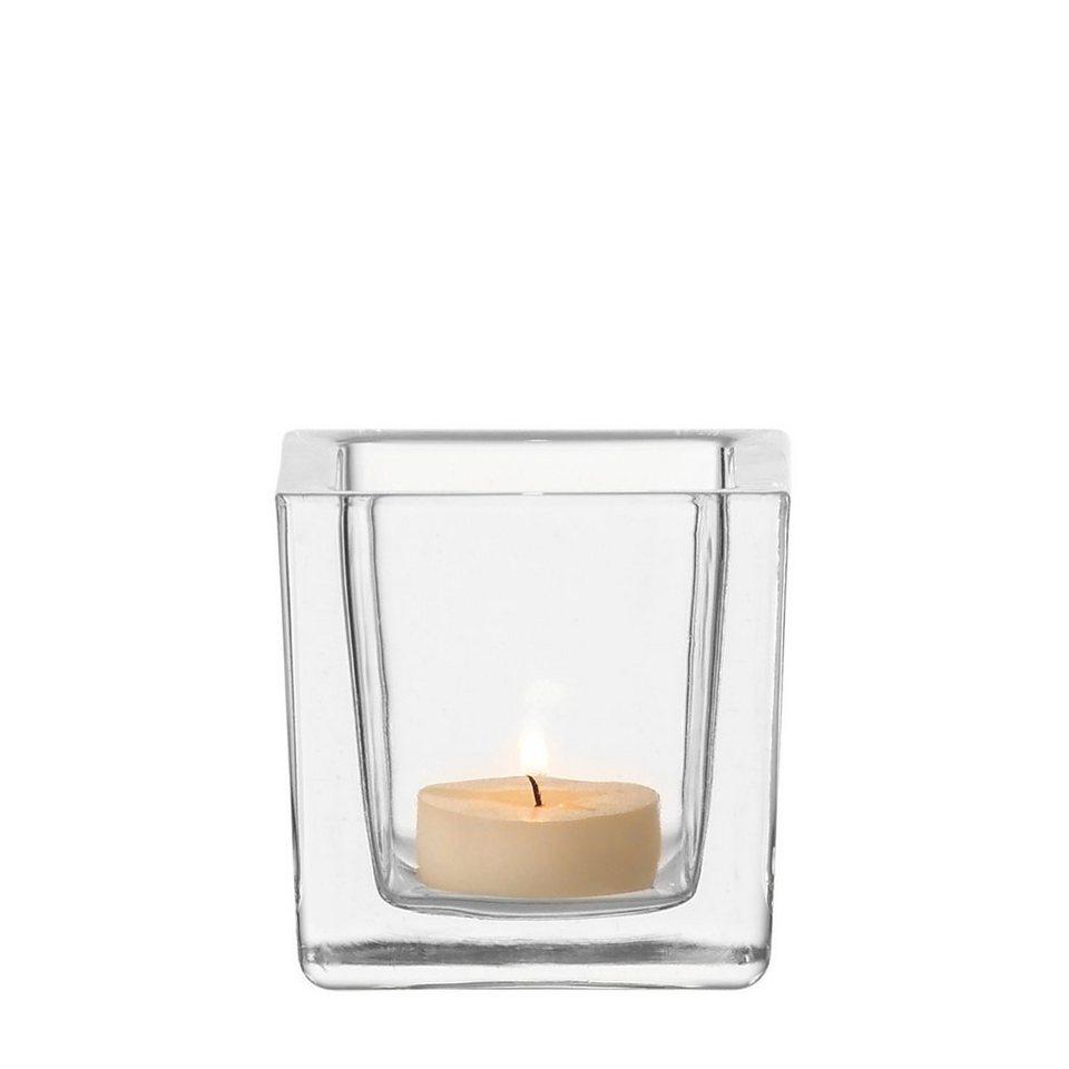 Leonardo Tischlicht »Cube« in Transparent