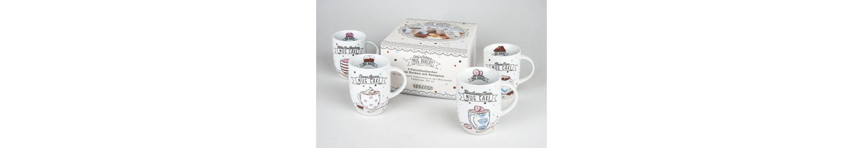 Könitz 4er Becher + Geschenkkarton »Mug Bakery«