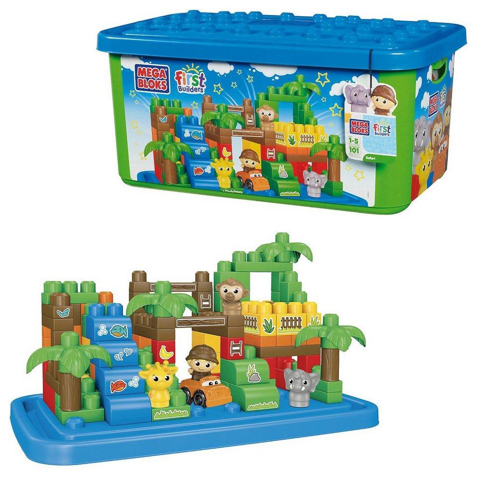 Mega bloks first builders themenbox gro er safaripark for Builders first
