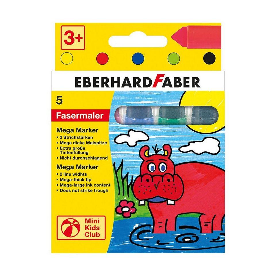 Eberhard Faber Mini Kids Filzstifte Mega-Marker, 5 Farben