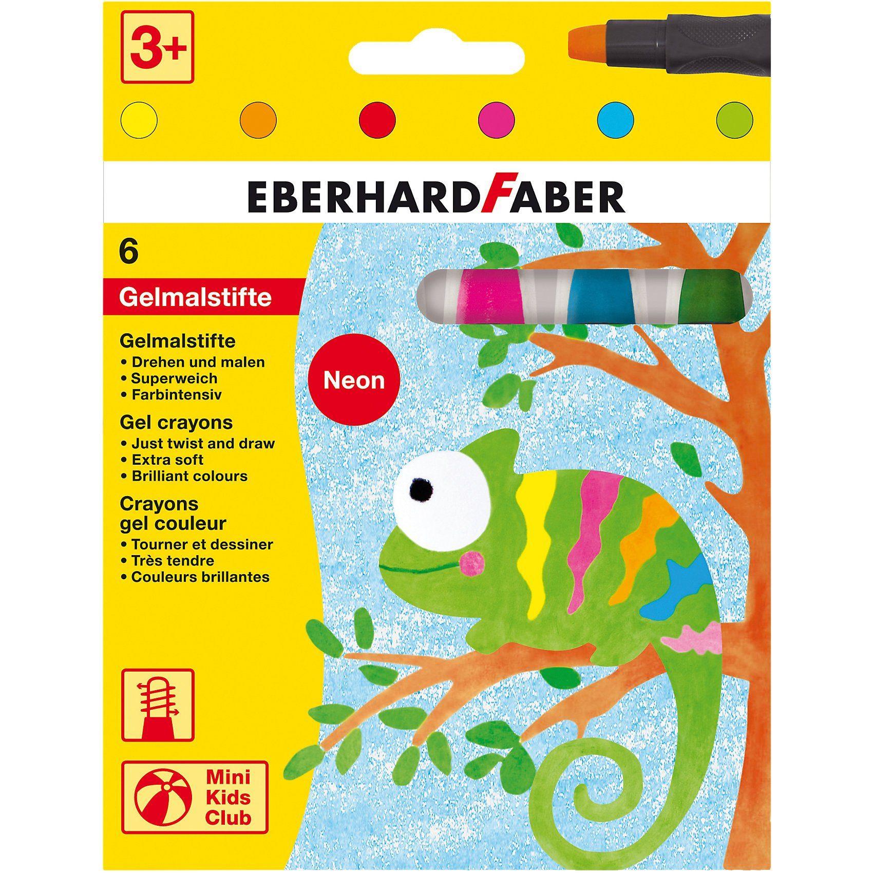 Eberhard Faber Mini Kids Gelmalstifte, 6 Neon-Farben