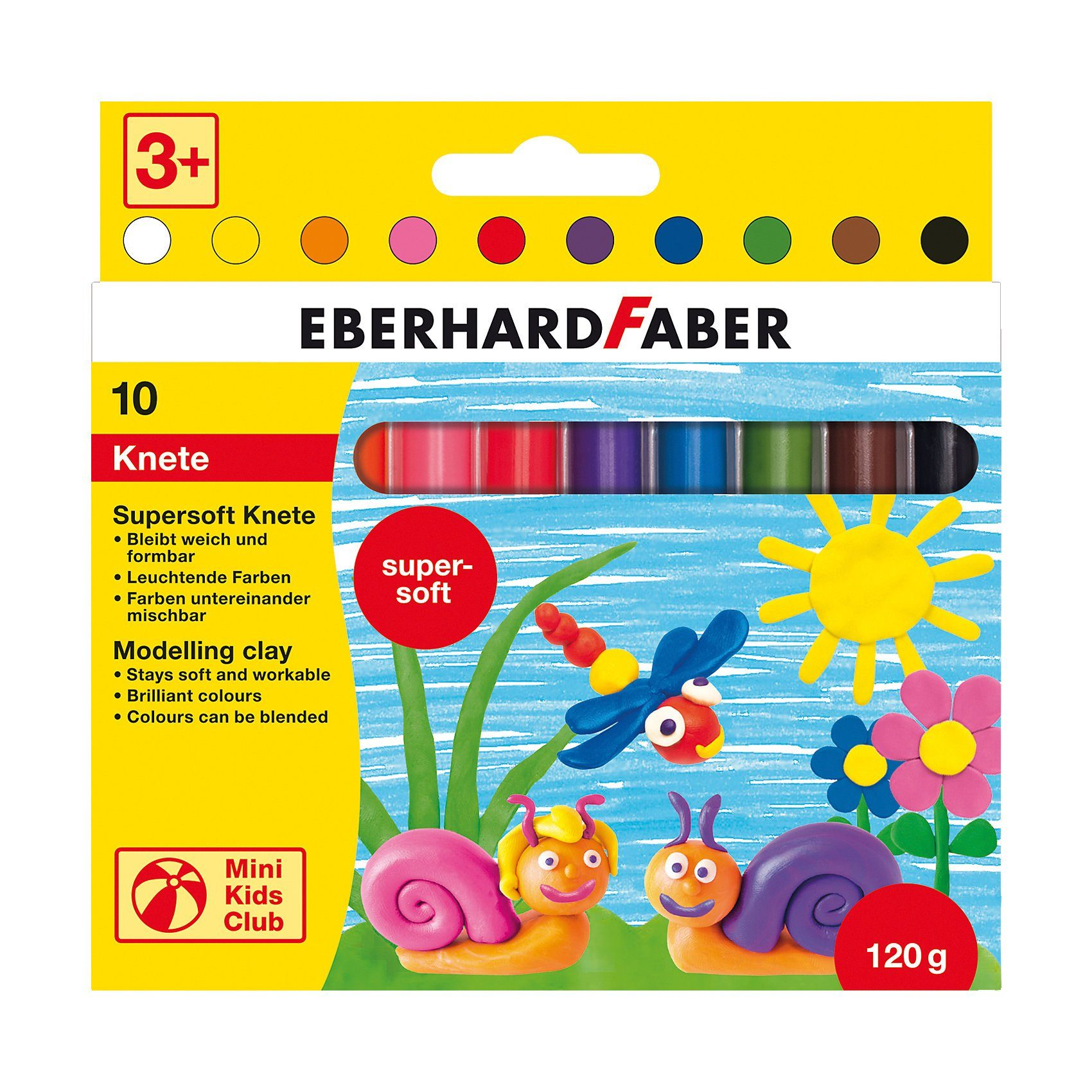 Eberhard Faber Mini Kids Supersoft-Knete, 10 Stangen