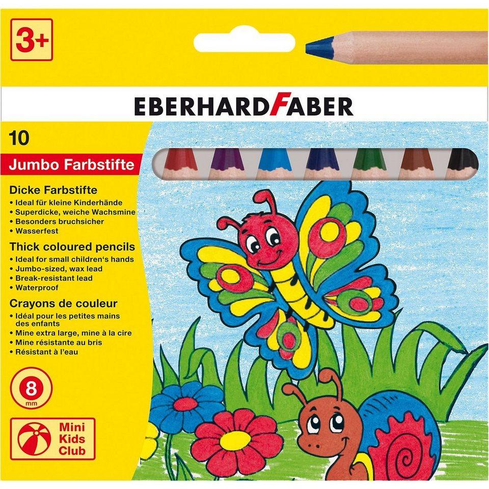 Eberhard Faber Mini Kids Club Jumbo-Buntstifte, 10 Farben