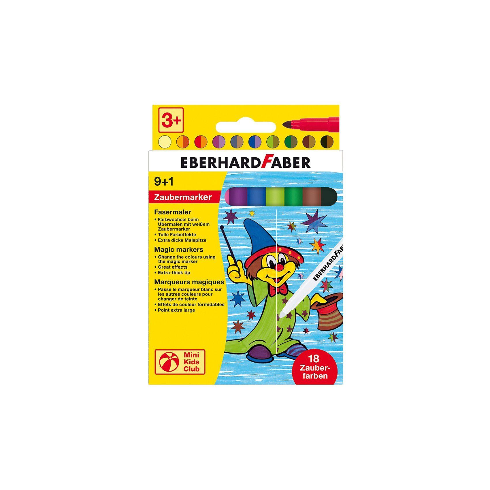 Eberhard Faber Mini Kids Zaubermarker, 9 & 1 Farben