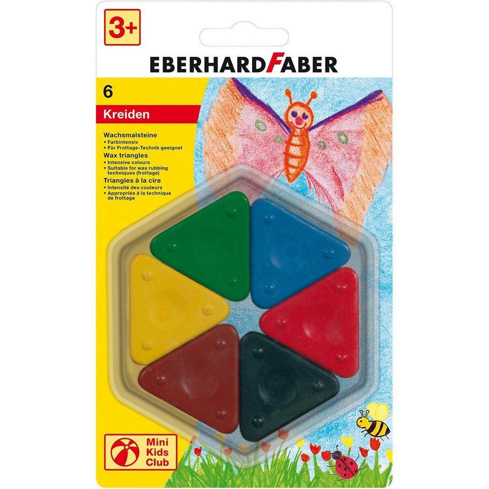 Eberhard Faber Mini Kids Wachsmalsteine, 6 Farben