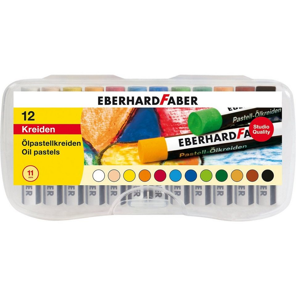Eberhard Faber Ölpastellkreiden, 12 Farben