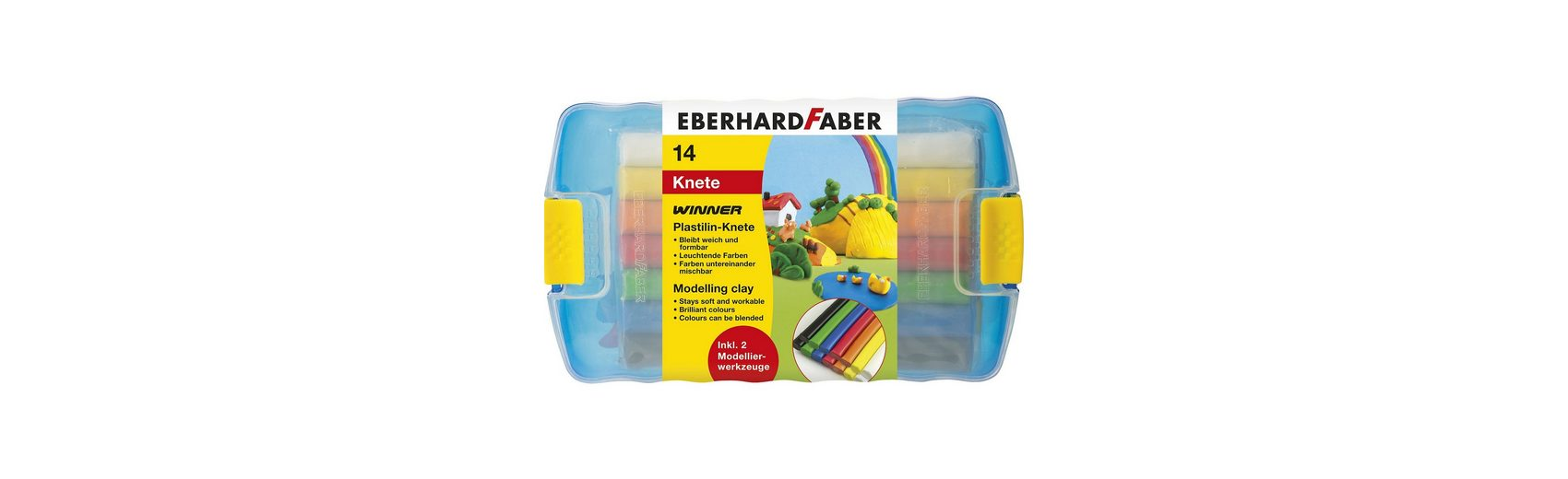 Eberhard Faber Plastilin-Knete, 10 Stangen, inkl. Werkzeug