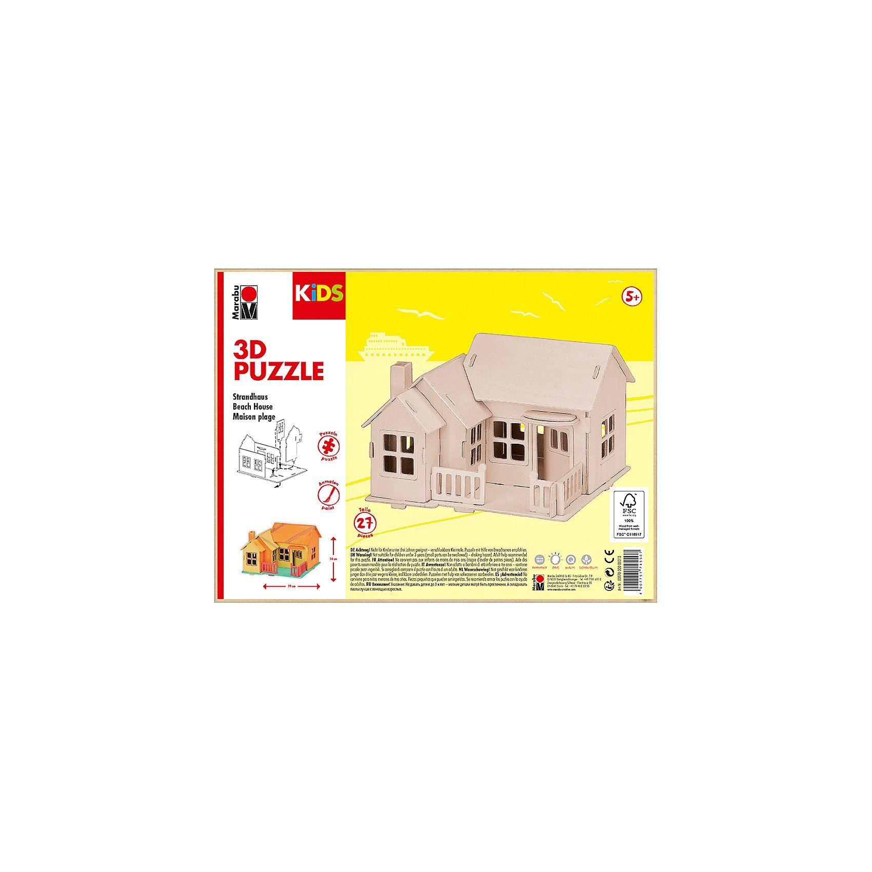 Marabu mara 3D Holzbausatz Strandhaus